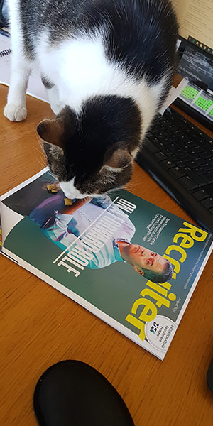 TC the A1 Locums cat with a copy of Recruiter